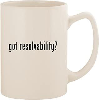 got resolvability? - White 14oz Ceramic Statesman Coffee Mug Cup
