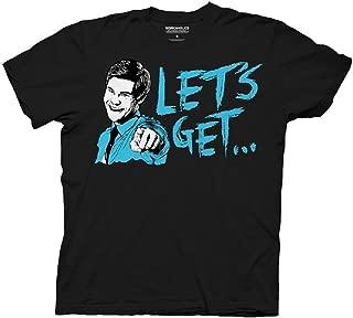 Workaholics Let's Get Weird Flip Adam DeMamp Face Adult Black T-shirt