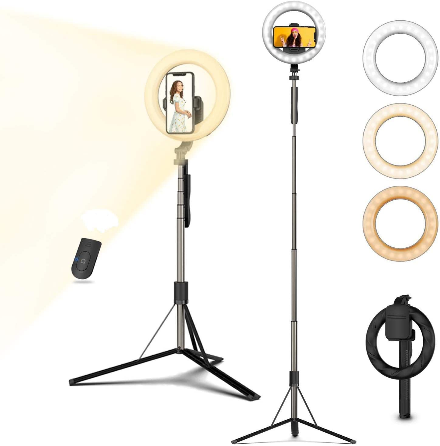 Selfie Ranking TOP18 Ranking TOP20 Ring Light with Tripod Phone Battery Holder Rech Stand