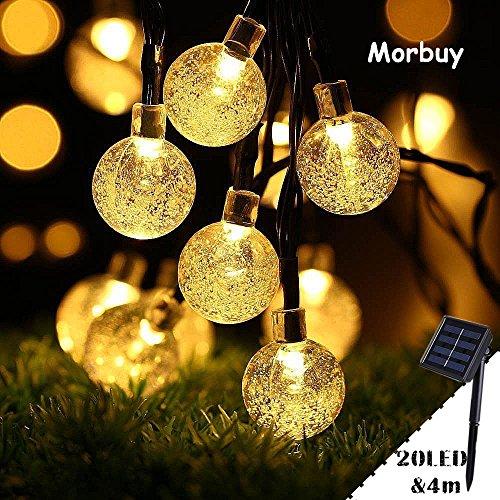 Guirlande Lumineuse Solaire Multicolore Morbuy /Étanche Boules Cristal pour Ext/érieure 7m //50 LED 8 Modes de Travail pour Jardin terrasse F/ête de No/ël Mariage