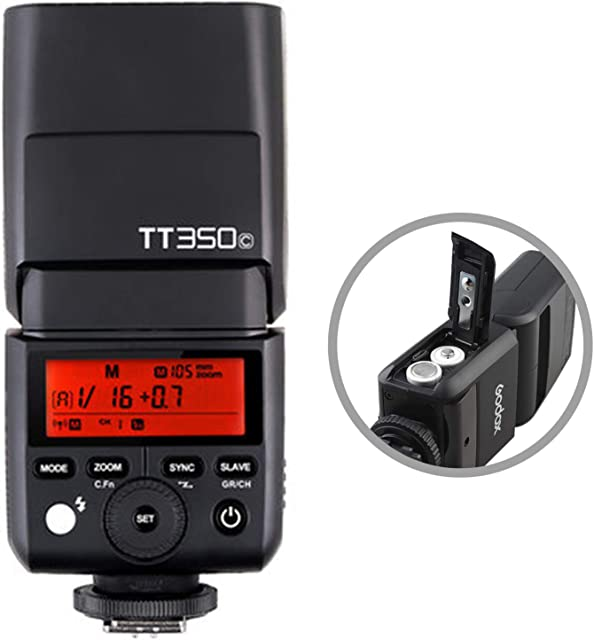 Godox TT350C TTL Mini Flash para Canon cámara Flash electrónico 2.4G HSS 1 / 8000s TTL GN36 para cámaras Digitales sin Espejo Canon