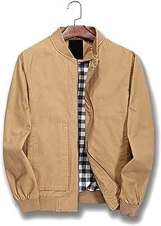Mens Bomber Jacket Cotton Softshell Sportswear Lightweight Slim Jacket Coat