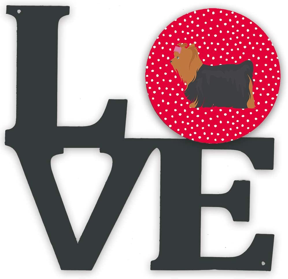 Caroline's Treasures Yorkshire Sacramento Mall Terrier #1 Metal Love Large special price Wal Artwork