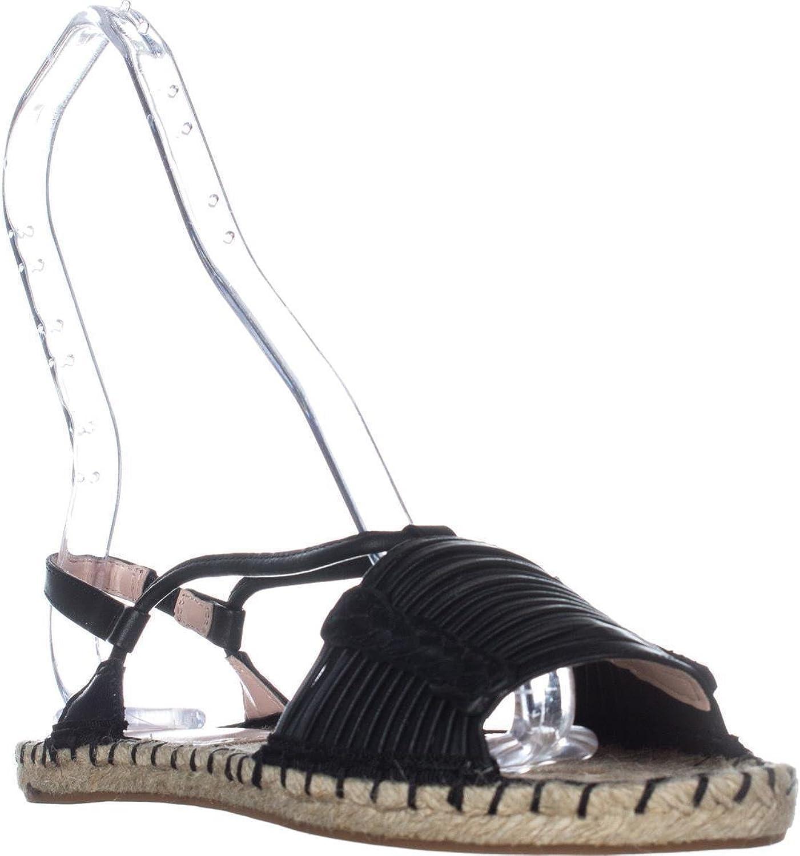 Avec Les Filles Womens Genevie Open Toe SlingBack Espadrille, Black, Size 9.0