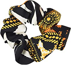 URIBAKE Women Elastic Hair Rope Print Ring Tie Scrunchie Ponytail Holder Hair Band Accessories Color Optional