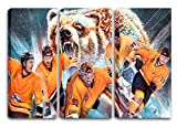 Wolfsburg Eishockey, Fan Artikel Leinwandbild 3Teiler