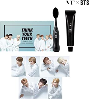 KPOP_VT X BTS LIMITED JUMBO TOOTH BRUSH KIT_7PHOTO CARDS_BLACK_KOREA POP_2017.11.298