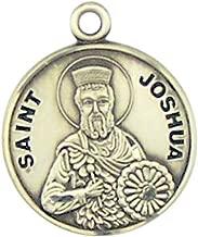 HMHReligiousMfg Sterling Silver Catholic Patron Saint Round Medal Pendant, 7/8 Inch