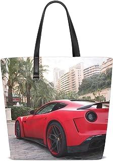 Ferrari F12 Berlinetta Supercar Novitec Rosso N Largo Tote Bag Purse Handbag For Women Girls