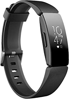Fitbit Inspire HR Heart Rate & Fitness Tracker, One Size (S & L bands included), 1 Count (Renewed)