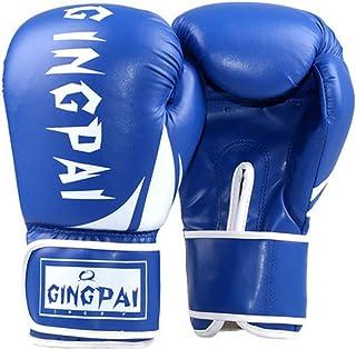 QJSTD Guantes De Boxeo Verde Rosado para Adolescentes Adultos De Cuero Artificial MMA Glove Fighting Punching Sandbag Grappling Guantes De Boxeo?Blue