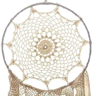 (12, Ivory) - Koyal Wholesale DIY Dream Catcher - White Handmade Crochet Hanging Dream Catcher DIY Boho Decor (12, Ivory)