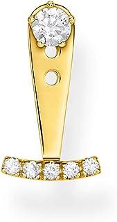 Thomas Sabo - Pendientes para mujer con piedras blancas de oro y plata de ley 925