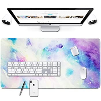 29.5x15.7x0.12 Inch Abstract Mandala Design Pattern XXL XL Large Gaming Mouse Pad Mat Long Extended Mousepad Desk Pad Non-Slip Rubber Mice Pads Stitched Edges
