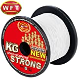 WFT New KG Strong Trans 600m 0,12mm 15kg - Geflochtene Angelschnur Zum Meeresangeln, Meeresschnur, Schnur Zum Angeln