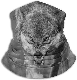 Lsjuee Copricapo resistente, passamontagna, bandana, mezza, ghetta, sciarpa tubolare, feroce lupo grigio scaldacollo morbi...