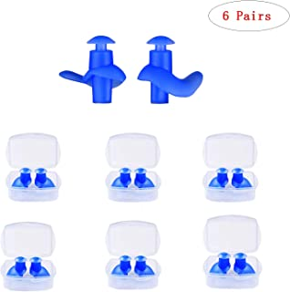 LABOTA 6 Pairs Silicone Swimming Earplugs,Waterproof Reusable Ear Plugs for Swimming Showering Bathing Surfing and Other Water Sports,Comfortable Noise Reduction Earplugs,Hearing Protection