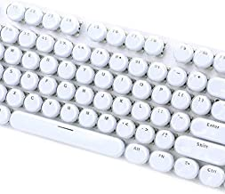 Creation Core Retro Typewriter Style ABS Backlit Keycaps for Mechanical Keyboards for Gaming Keyboard(104-Key Crystal White)