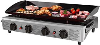 con Controlador de Temperatura y Protecci/ón Antisalpicaduras Festnight Plancha El/éctrica de Cocina Plancha Grill Electrica 2000 W 36x47x22 cm Plateado