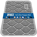MIGHTY MONKEY Premium Cat Litter Mat, Best Scatter Control for Cats, Jumbo XL, Mats Easy to Clean, Rugs Soft on Kitty and Cat Paws