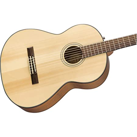 Amazon Com Fender Classical Guitar 6 Cn 60s Concert Nylon String Natural W Walnut Fingerboard Right 970160521 Musical Instruments