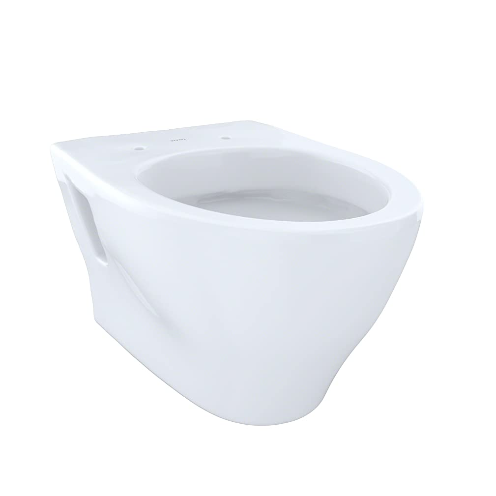 Toto CT418FGNo.01 Aquia Wall-Hung Dual-Flush Toilet, 1.6-GPF and 0.9-GPF Cotton - CT418FG#01