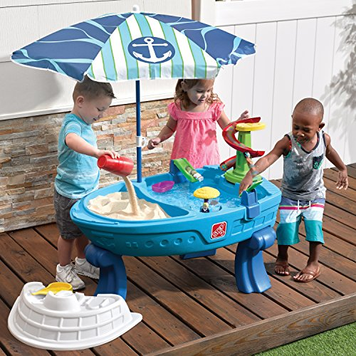 The Fiesta Cruise Ship water table is one of the best outdoor water toys for toddlers