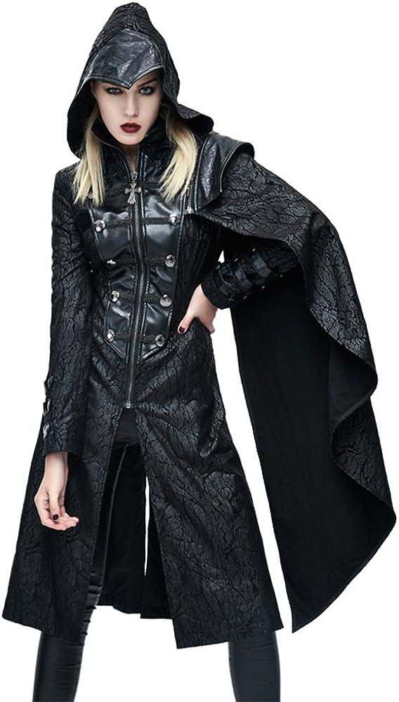 Steampunk List price Womens Gothic Hooded Jacket Coats Ladies Fashion Fashionable Punk