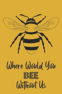Where Would You Bee Without Us: Novelty Bee Notebook Pun For Beekeepers