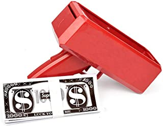 The USB Charging Make It Rain Money Gun Chrome Red + 100 PCS Bills(Red)