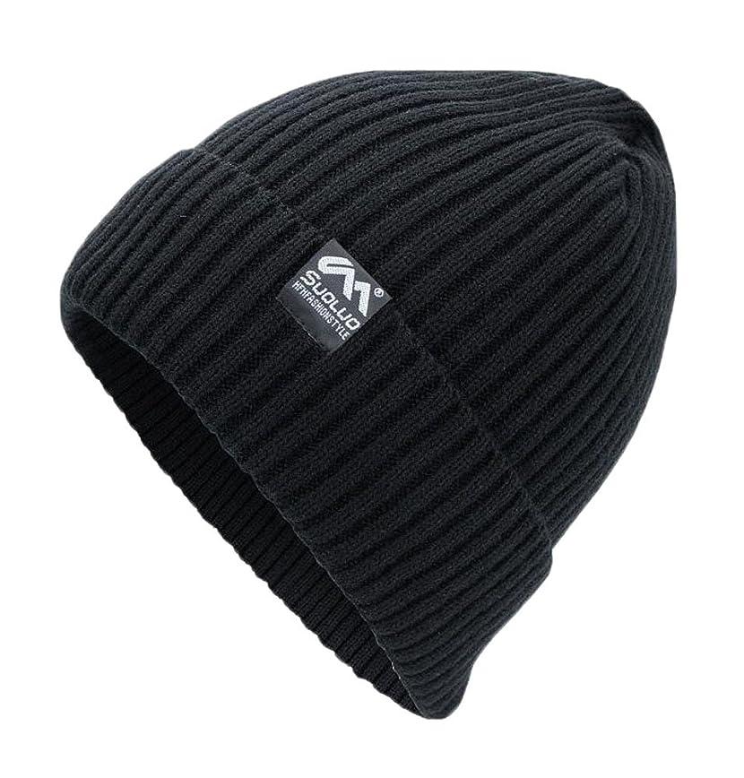 チョーク夕方ステーキ冬ニットウール暖かい帽子Daily Beanieキャップ