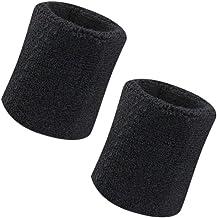 Vidillo Zweetband, polszweetband, 2 stuks, 4 inch sport zweetband polsband, zacht dik katoen, voor tennis, gymnastiek voet...