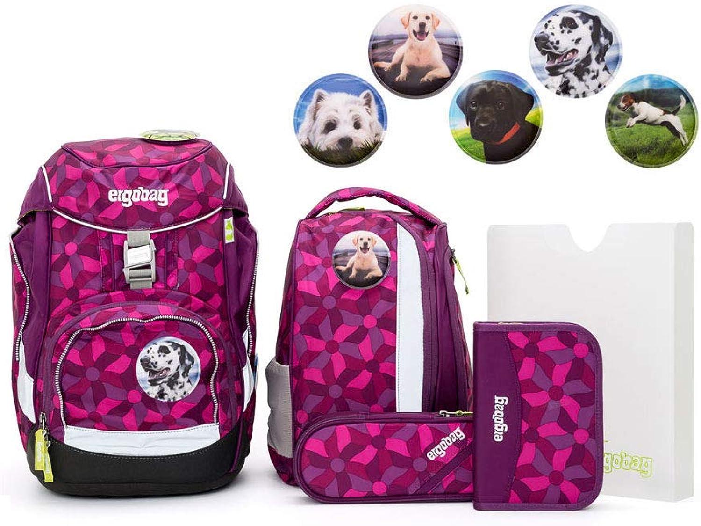 Ergobag Pack Set 6tlg NachtschwrmBr mit Wunschkletties Hunde