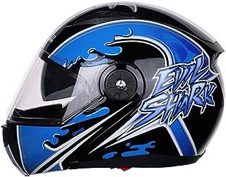 Adult MotorcycleHelmet, Modular Full Face Helmet Flip up Dual Visor Sun Shield, Personality Painting Dirt Bike Four Seasons Motorcycle Racing Helmet