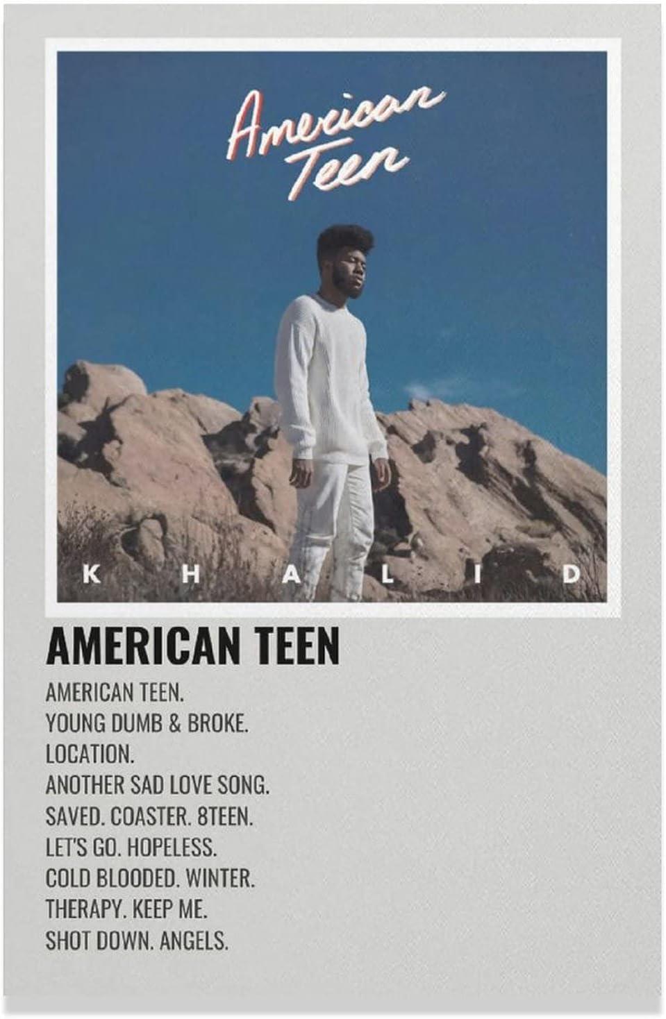 Singer American Teen Khalid R&B Teen Pop Canvas Poster Bedroom Decor Sports Landscape Office Room Decor Gift Unframe-style112×18inch(30×45cm)