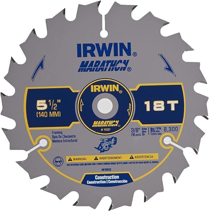 IRWIN Tools 14027 MARATHON Circular Saw Blades - The Best 5 ½-Inch Blades