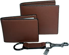 Coach Men's Compact ID Wallet & Key Fob Gift Boxed Set