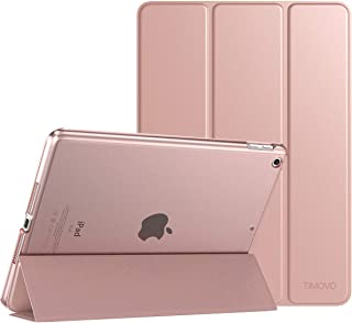"""TiMOVO Case for New iPad 7th Generation 10.2"""" 2019, Slim Translucent Frosted Back Protective Cover Shell with Auto Wake/Sleep, Smart Case Fit iPad 10.2-inch Retina Display - Rose Gold"""