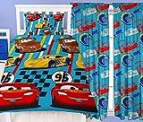 Disney Cars Dinoco Juego de cama individual y cortinas a juego - Rayo Mcqueen, Mater & Cruz Ramirez Coches Dinoco Single Duvet & 54' Drop Curtains