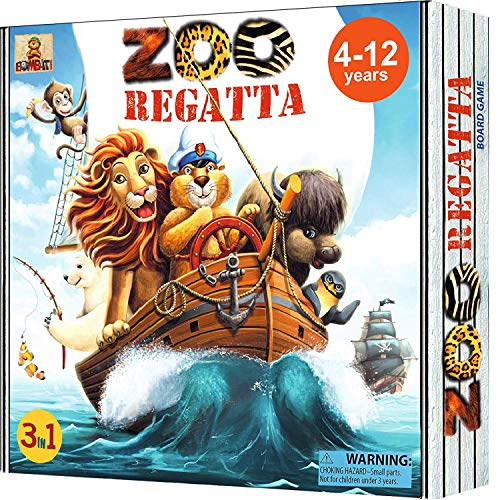 family board games ZOORegatta Family Board Games for Kids Ages 4-12 Years. Award Winning Fun Animal Game for 2-4 Players. Educational Childrens Board Game Learning Strategy, Social Skills, Logic, Geography
