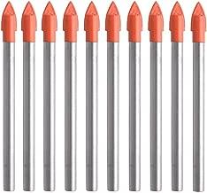 Gunpla 10Pcs Multi-Material Drill Bits Set, Cemented Carbide Masonry Drill Bits for Glass, Plastic, Tile, Concrete, Brick, Wall, Wood and Brick Wall (6mm)