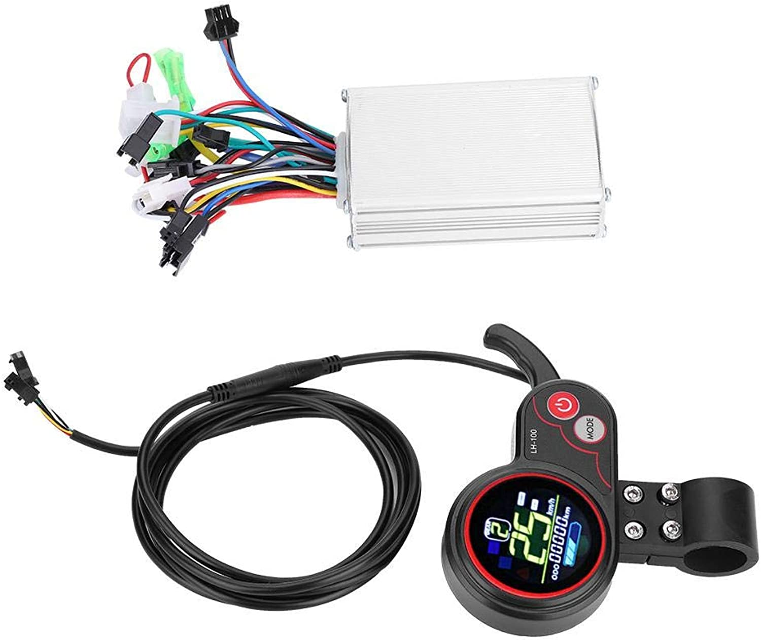 Alomejor Controller LCD Display 24V 36V 48V 60V 250W 350W Speed Controller with Waterproof LCD Display Panel for Electric Bike Scooter