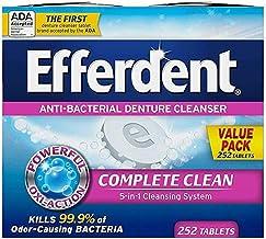 Efferdent Denture Cleanser Tablets, Complete Clean, Tablets, Multicolor, 252 Count