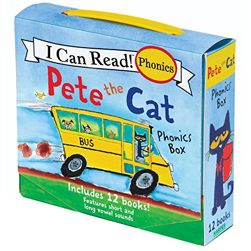 Pete the Cat Phonics Box: Includes 12 Mini-Books Featuring Short and Long Vowel...
