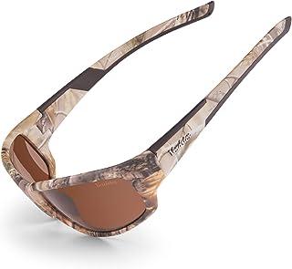 Verdster - Gafas de sol polarizadas Verdster Camo – Protección UV – Gafas de Sol Marrones con Diseño de Camuflaje con Lentes de color Ámbar – Ideales para Pescar – Una Funda Suave y un Paño de Limpieza Incluidos