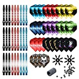 Tezoro Dart Accessories Kit Including Aluminum Dart shafts,Dart Flights, Flight Savers, Sharpener, O-Rings...