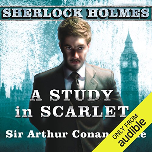A Study in Scarlet audiobook cover art