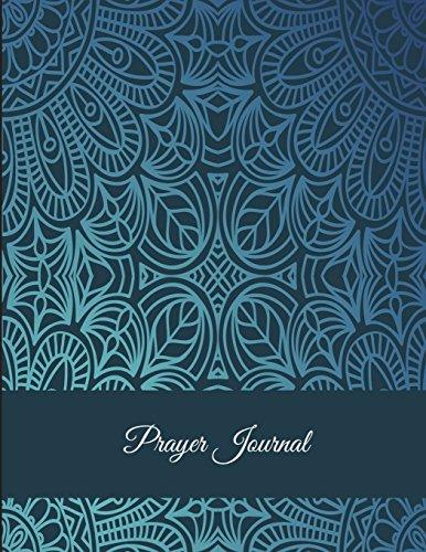 Prayer Journal: Mandala Design Blue Sky, Prayer Log, A Christian Notebook Large Print Bible 8.5