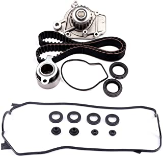 ECCPP Timing Belt Water Pump and vavle Cover Gasket Kit Fit for Honda CRX HF 1.5L 1988-1991
