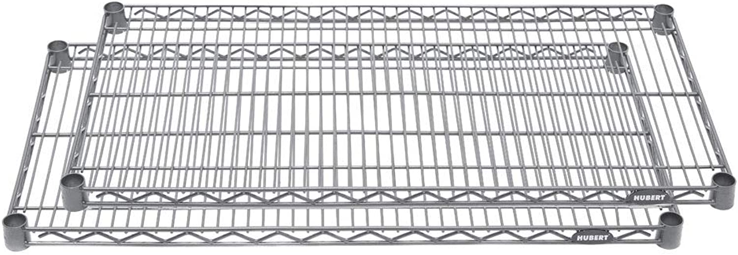 Hubert Wire Shelves 36  L x 18  D Flint Pack of 2
